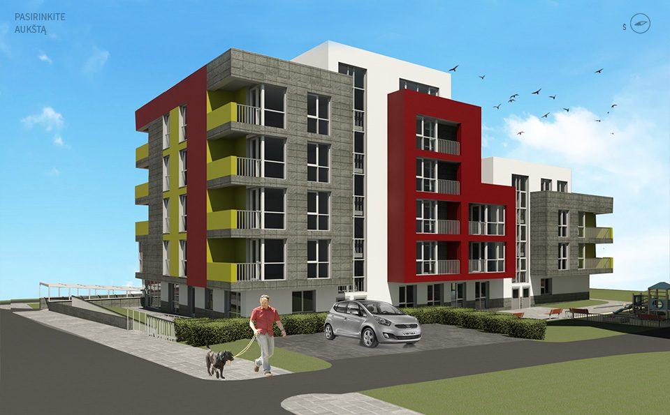 Daugiabučio gyvenamojo namo su komercinėmis patalpomis Kviečių g. 2, Vilnius konstruktyvo įrengimo darbai