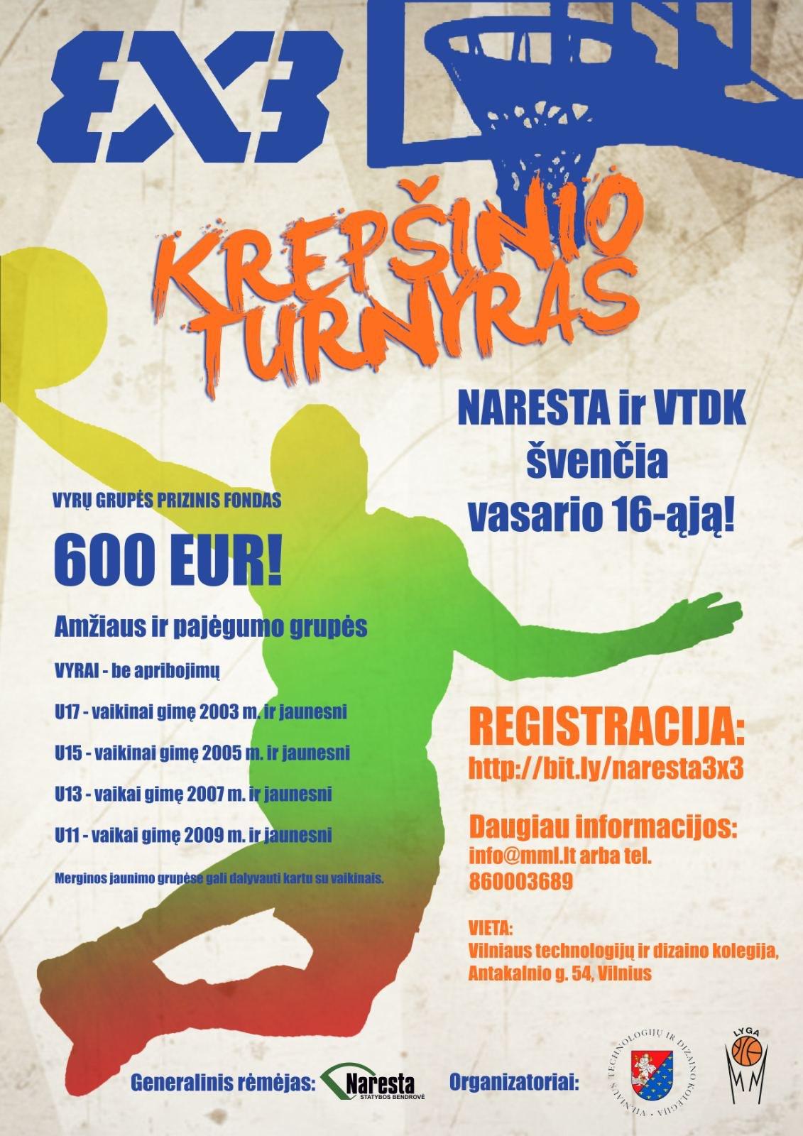 """UAB """"Naresta"""" tęsia """"lietuviškos religijos"""" skatinimą ir prisideda prie """"3X3 krepšinio turnyro"""" organizavimo"""