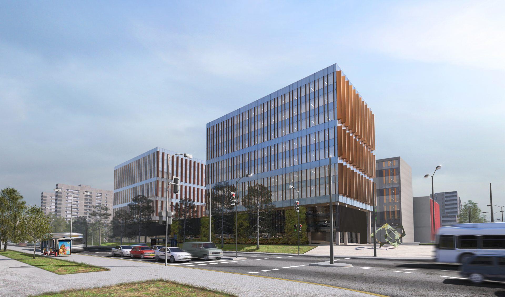 Administracinio pastato Savanorių pr. 28, Vilniuje statyba
