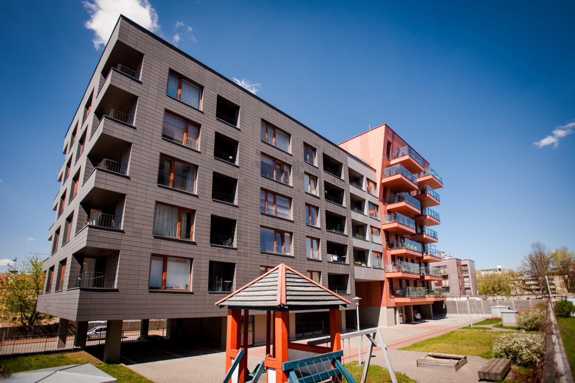Daugiabučio gyvenamojo namo Smėlio g. 8, Vilnius, statybos darbai