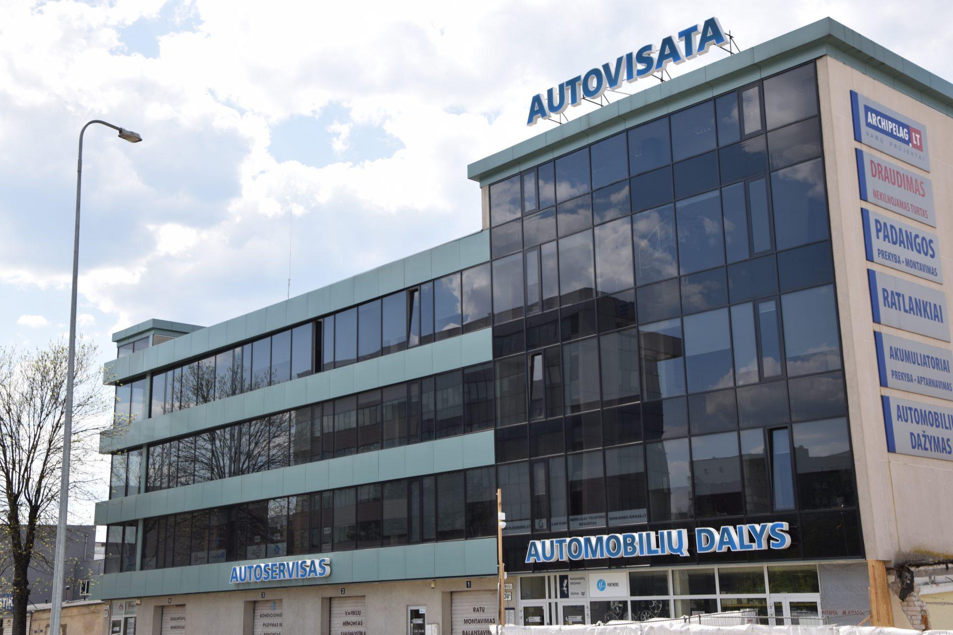 """Administracinio pastato """"Autovisata"""" statybos darbai"""