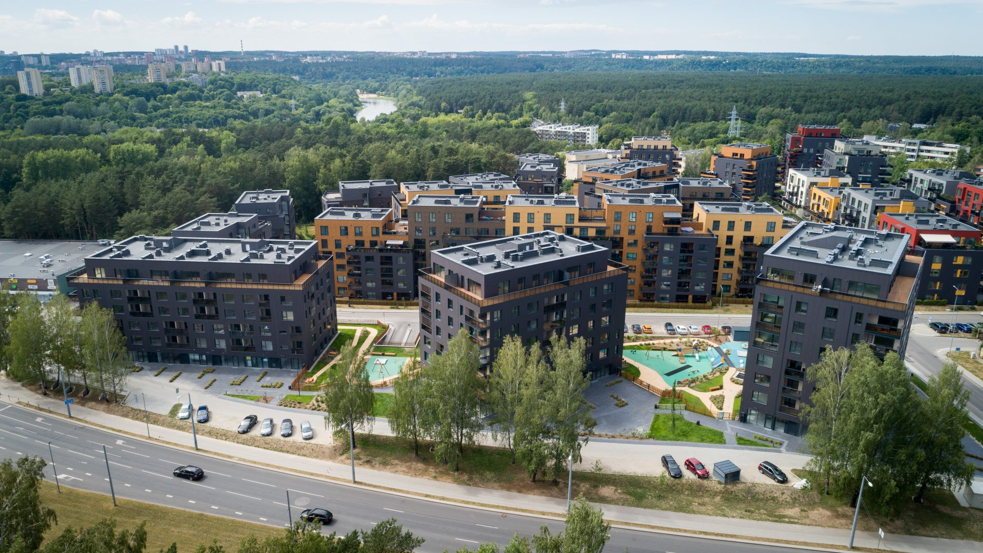 """UAB """"MG Valda"""" vystomo projekto """"Antakalnio terasos"""" paskutinio – ketvirtojo etapo """"Ąžuolų terasos"""" statybos darbai"""
