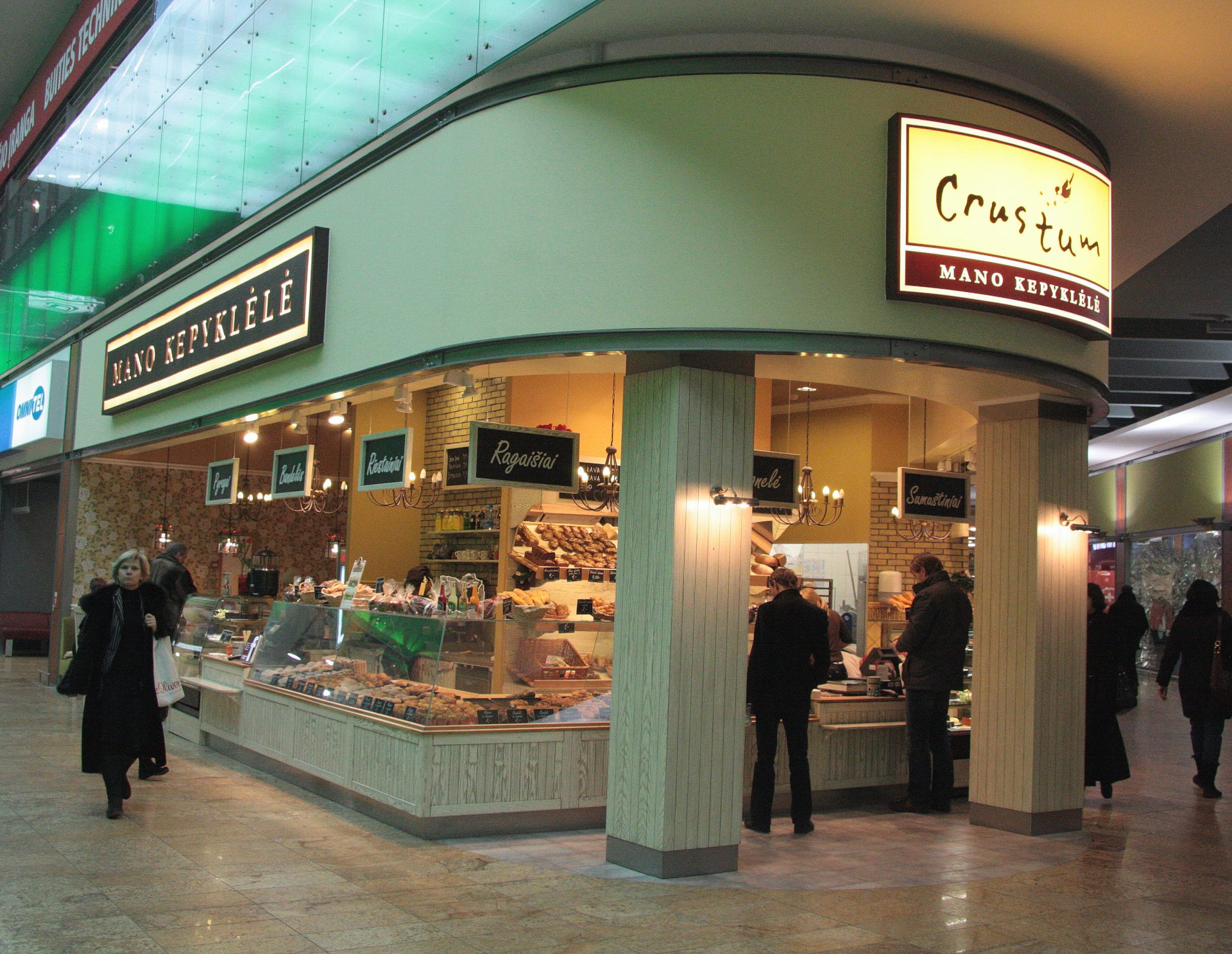 """Installation works of """"Mano kepyklėlė"""" bakery in shopping centers """"Akropolis"""", """"Big"""", """"Europa"""""""