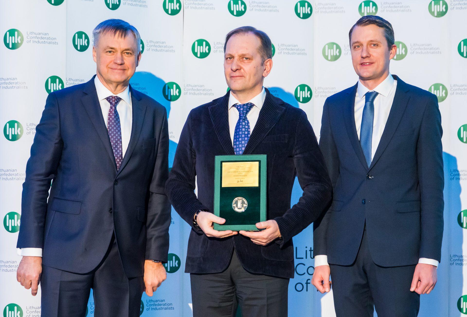 """UAB """"Naresta"""" apdovanota aukso medaliu konkurse """"Metų gaminys 2019"""""""