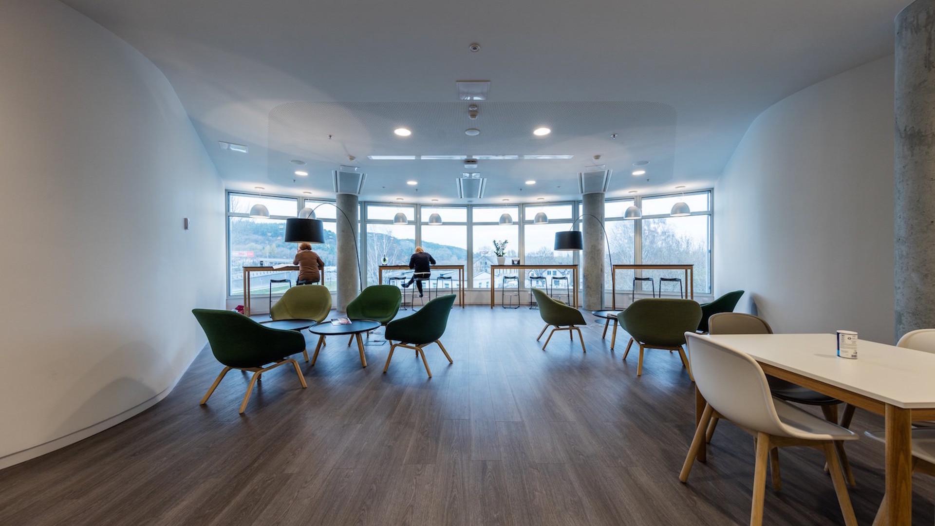 """""""NASDAQ"""" office business center K29 at Konstitucijos pr. 27, Vilnius. Installation works"""