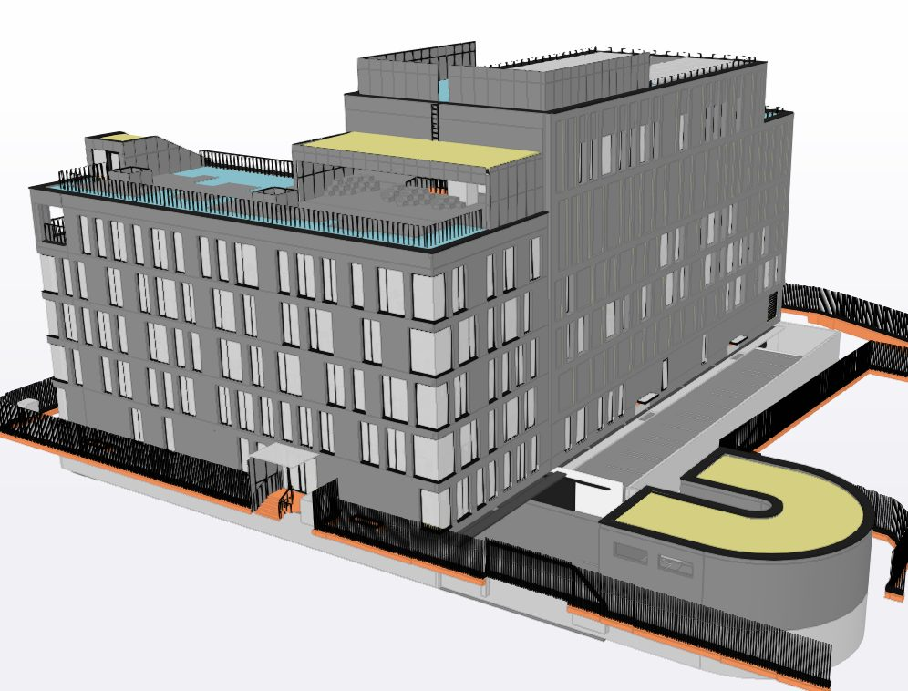 Reconstruction of the future building of the Management Security Department begins