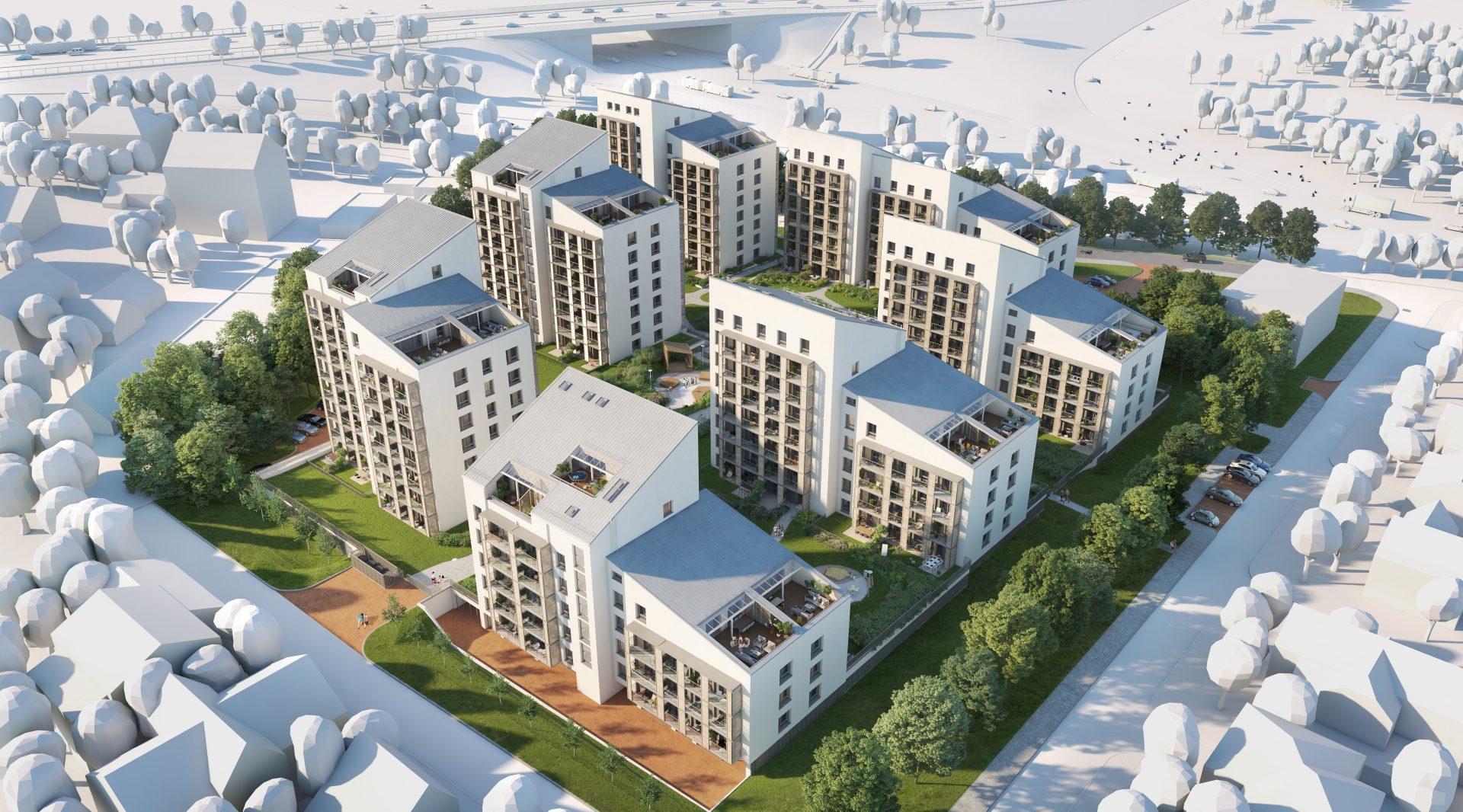"""Daugiabučio gyvenamojo namo konstruktyvo įrengimo darbai naujai vystomame NT projekte """"Žvėryno panoramos"""""""