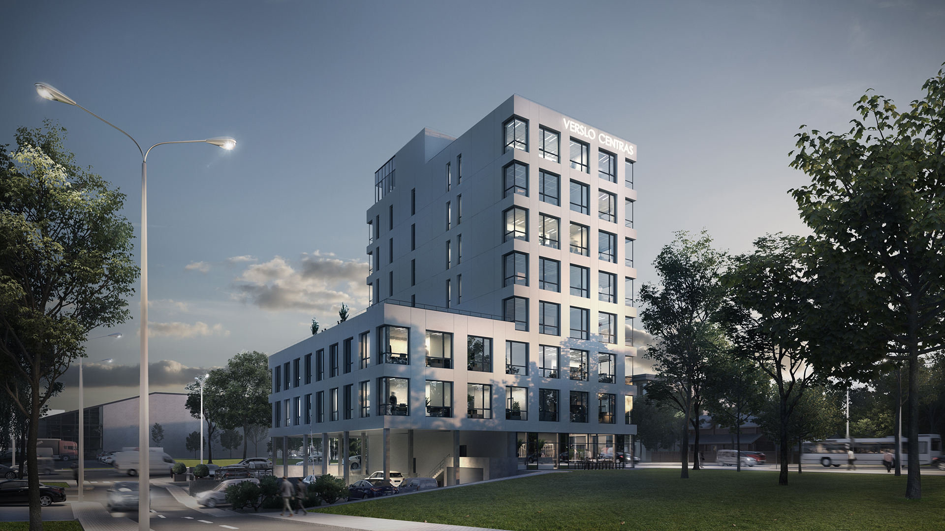 Real estate development and services group Inreal Business Center Žalgirio str. 94, Vilnius construction